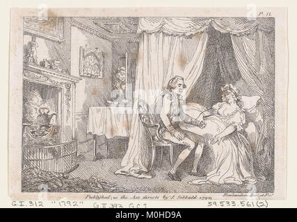Illustration to Henry Fielding's 'Adventures of Joseph Andrews, and his friend Mr Abraham Adams' MET DP872054 - Stock Photo