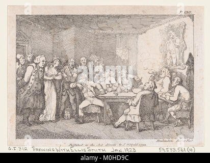 Illustration to Henry Fielding's 'Adventures of Joseph Andrews, and his friend Mr Abraham Adams' MET DP872056 - Stock Photo