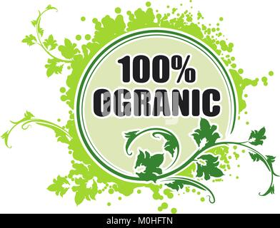 100 ïðîöåíòîâ îðãàíè÷åñêèõ çíà÷îê - Stock Photo