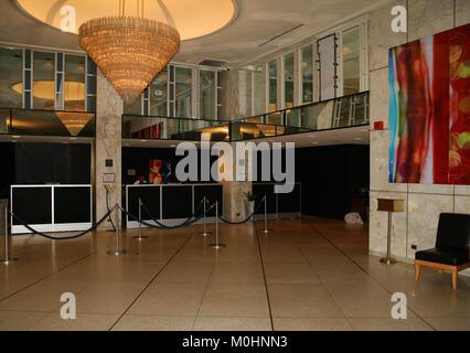Reception Entrance Area, Milford Plaza Hotel, Midtown Manhattan, New York City, New York State, USA. - Stock Photo
