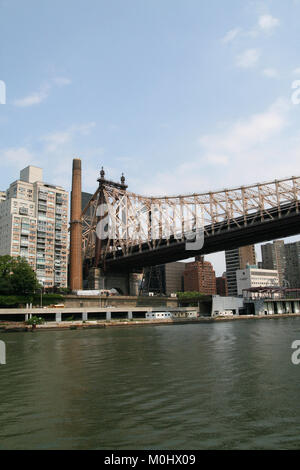 The Queensboro Bridge, (AKA the 59th Street Bridge- its Manhattan end is located between 59th and 60th Streets), - Stock Photo