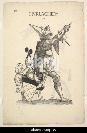 Hurlacher (recto) and Rappold (verso) Families, from Paul Hector Mair's Bericht und anzeigen aller Herren Geschlecht - Stock Photo