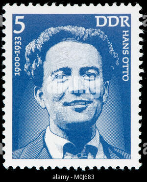 East German postage stamp (1975) : Hans Otto (1881–1931) Austrian film director and screenwriter of silent films.