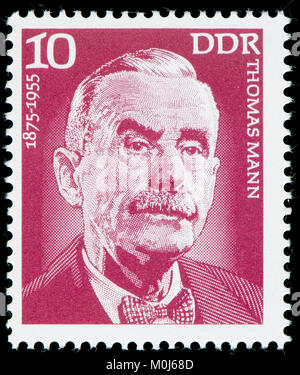 East German postage stamp (1975) : Thomas Mann (1875 – 1955) German novelist, short story writer and social critic - Stock Photo