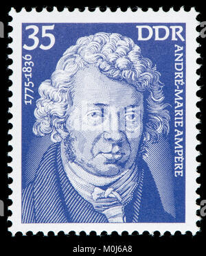 East German postage stamp (1975) : André-Marie Ampère (1775 – 1836) French physicist and mathematician