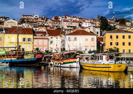 Mali Losinj harbour, island of Losinj, Croatia. May 2017. - Stock Photo