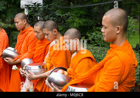 Asia,Thailand,Chiang Mai,buddhist monks - Stock Photo