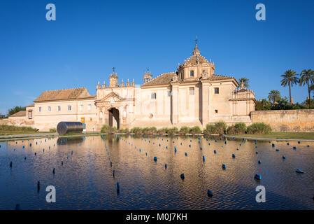 The Monastery of the Cartuja, now the site of the Andalusian Contemporary Art Center in Seville, Spain - Stock Photo