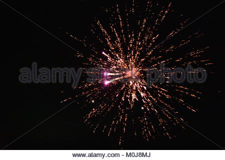 Fireworks in the night. - Stock Photo