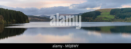 Evening view over the Pontsticill Reservoir near Merthyr Tydfil, Mid Glamorgan, Wales, UK Stock Photo