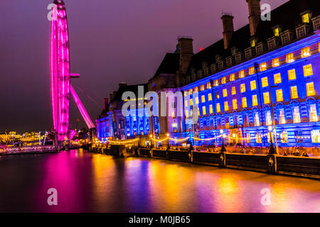 London Eye, Millennium Wheel. - Stock Photo