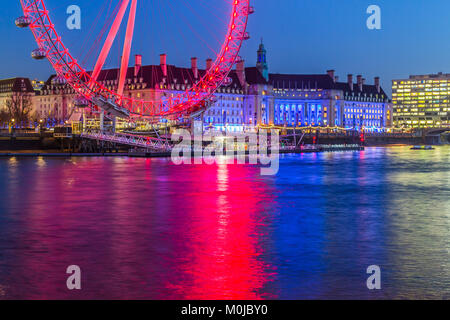 London Eye, Millennium Wheel. - Stock Photo