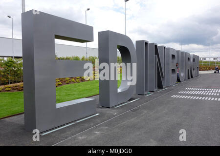 Entrance to Edinburgh Airport - Stock Photo