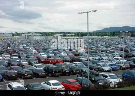 Edinburgh Airport car parks - Stock Photo