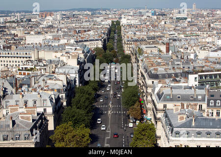 Paris (France): properties surrounding the Wagram Avenue, in the 17th arrondissement (district) - Stock Photo