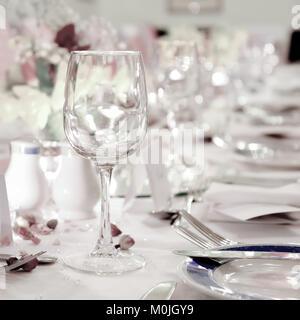 Wedding table setting - Stock Photo