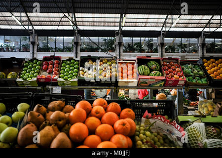 The public markets are always a must to visit places to get to know better how the locals live, and eat. This pictures - Stock Photo