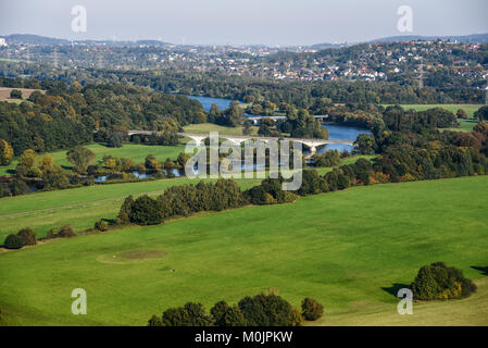 Ruhr Valley, River Ruhr, Herbede, Witten, Ruhr Area, North Rhine-Westphalia, Germany - Stock Photo