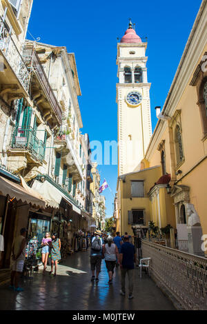 Old town of Corfu, Ionian Islands, Greece - Stock Photo