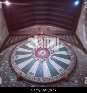 King Arthur's Round Table, Winchester Great Hall - Stock Photo