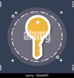 key icon image - Stock Photo