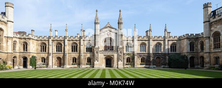 Courtyard of Corpus Christi College - University of Oxford - Stock Photo