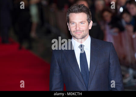 London, UK, 28 October 2015, Bradley Cooper, European Film premiere of 'Burnt' at Vue West End Cinema. Mariusz Goslicki/Alamy - Stock Photo