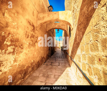 Victoria, Gozo island, Malta: the Cittadella - Stock Photo