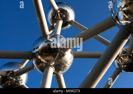 The Atomium monument designed by André Waterkeyn, Brussels, Belgium, Europe. - Stock Photo
