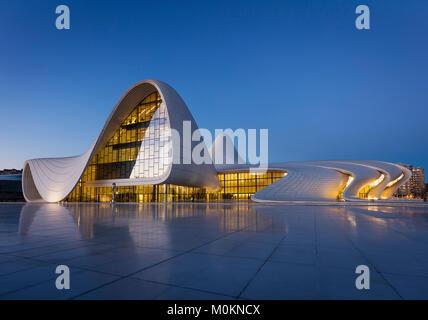 Heydar Aliyev Center in Baku - Stock Photo