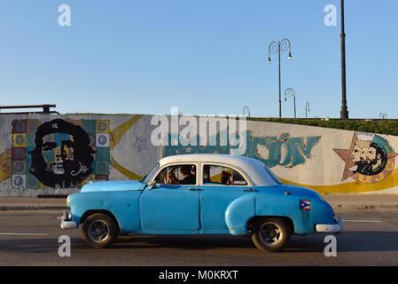 Car driving Old Havana