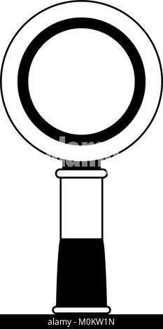 Magnifying glass symbol - Stock Photo