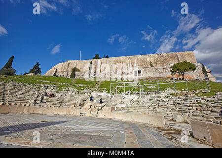 ATHENS, GREECE - JANUARY 03, 2018:The Odeon of Dionysus in Acropolis, Athens, Greece. - Stock Photo