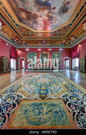 Ceiling fresco painting louvre museum paris stock photo 32249395 alamy - Museum decorative arts paris ...