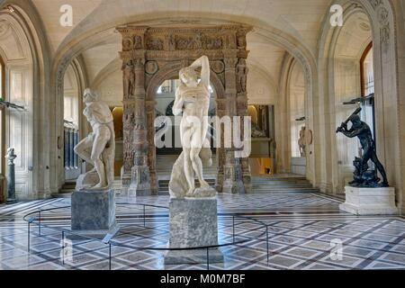 France,Paris,area listed as World Heritage by UNESCO,Louvre museum,foreign sculptures department,Mollien gallery - Stock Photo