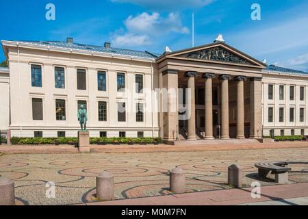 Norway,Oslo,near Karl Jonas Gate Avenue,University of Norway - Stock Photo