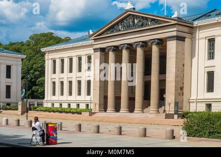 Norway,Oslo,Karl Jonas Gate Avenue,University of Norway - Stock Photo