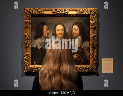 RA, London, UK. 23rd Jan, 2018. Charles 1: King and Collector reunites the greatest masterpieces of a collection - Stock Photo