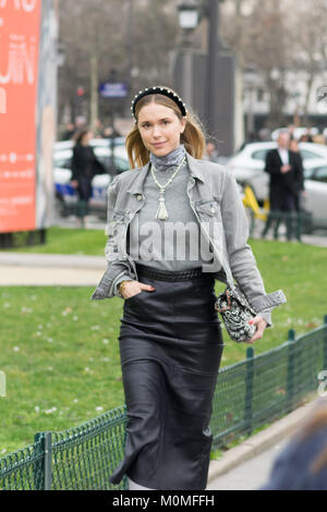 Paris, France. 23rd January, 2018. Pernille Teisbaek heads into Grand Palais, Paris for Chanel Launch 23/01/18. - Stock Photo