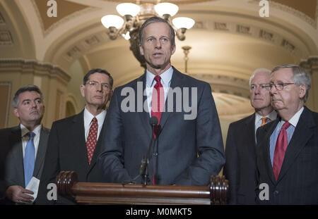 January 23, 2018 - Washington, District of Columbia, United States of America - United States Senator John Thune - Stock Photo