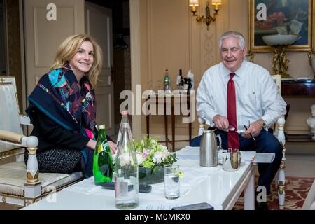Paris, France. 23rd January, 2018. U.S. Secretary of State Rex Tillerson during a meeting with the U.S. Ambassador - Stock Photo