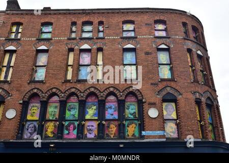 windows on a tall brick building stock photo 20363767 alamy. Black Bedroom Furniture Sets. Home Design Ideas