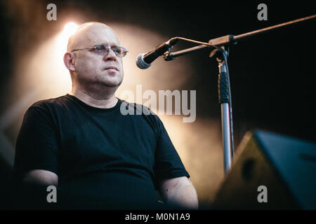 The Polish folk band Kwadrofonik performs a live concert featuring the Polish poet Adam Strug at the Polish music - Stock Photo