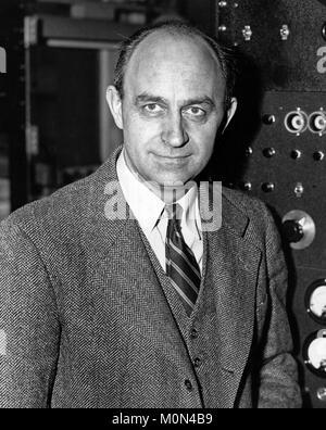 Enrico Fermi (1901-1954). Portrait of the Italian-American nuclear physicist, c.1943-6 - Stock Photo
