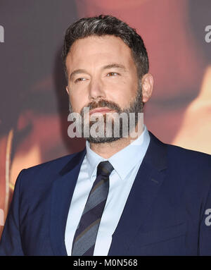 BEN AFFLECK US film actor and producer  arrives at the Premiere Of Warner Bros. Pictures' 'Justice League' at the - Stock Photo
