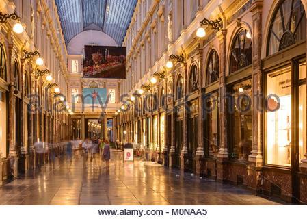 Brüssel, Les Galeries Royales Saint-Hubert, Koninklijke Sint-Hubertusgalerijen, Brussels, Koninklijke Sint-Hubertusgalerijen(Bruxelles, - Stock Photo