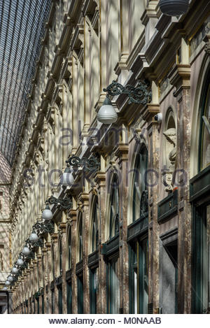 Brüssel, Les Galeries Royales Saint-Hubert, Koninklijke Sint-Hubertusgalerijen, Brussels, Koninklijke Sint-Hubertusgalerijen - Stock Photo