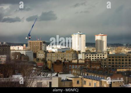 Ampthill Square tower blocks, Camden, London, UK - Stock Photo
