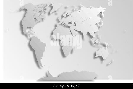 Americas political map of the world with countries in different very detailed political map of the world with paper cut effect map consists of separate gumiabroncs Image collections