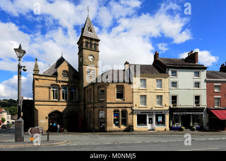 Summer, Wirksworth Town centre, Peak District National Park; Derbyshire; England; UK - Stock Photo